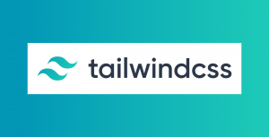 the TailwindCSS logo in blue and white