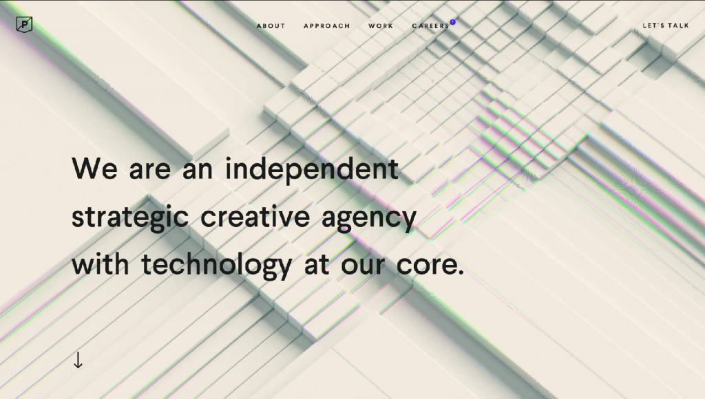 Web design inspiration example: Purplerockscissors' website