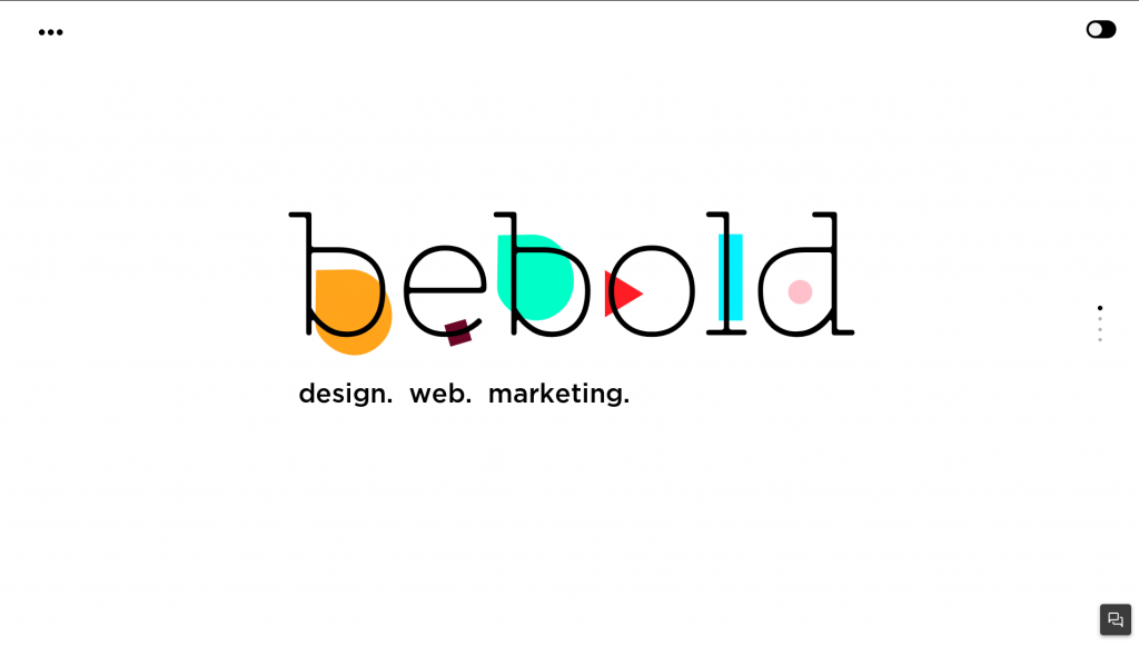 Web design inspiration example: Bebold's website