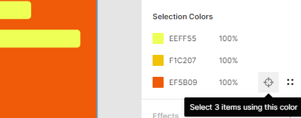 A screenshot of the 'Selection Colors' feature on Figma